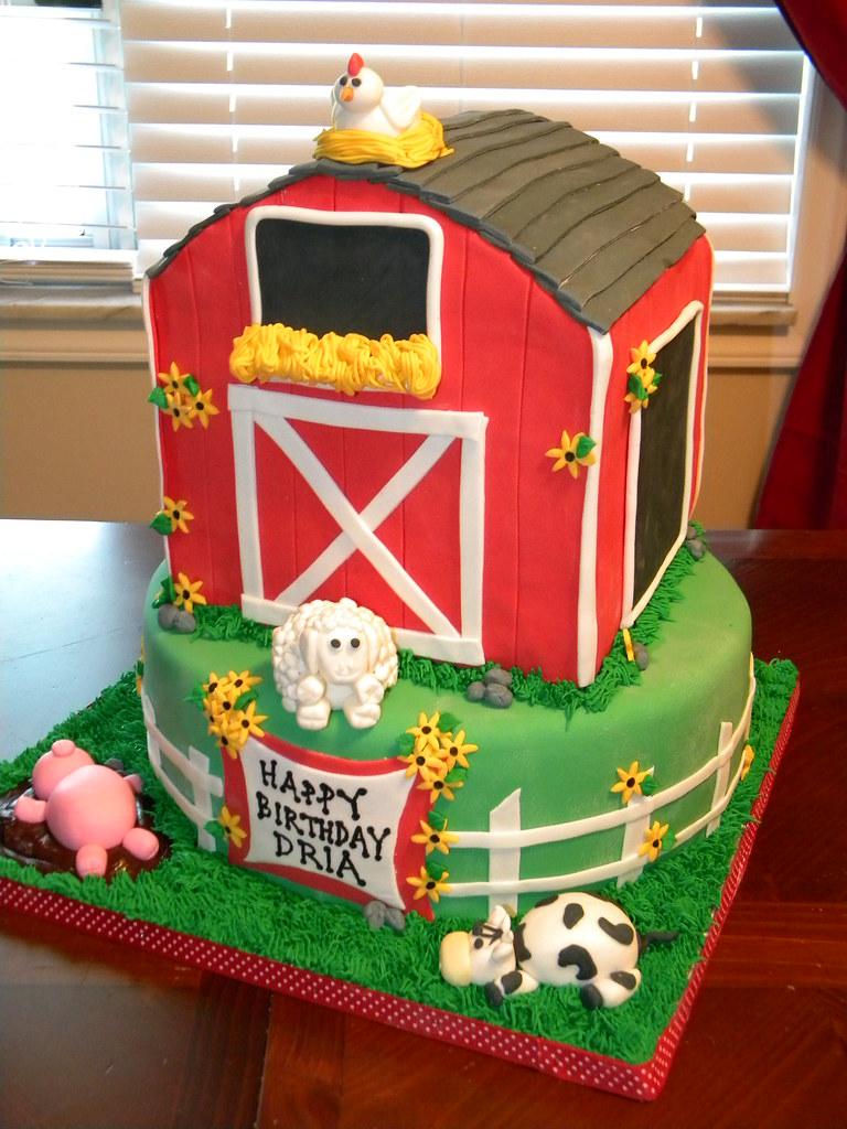 Barn Birthday Cake Jennifer Flickr