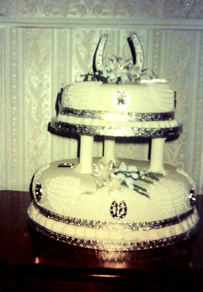 1950s wedding cake   1950 Wedding cake Price £90   Brenda Stock   Flickr