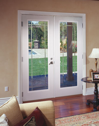 Feather river door fiberglass patio doors smooth white f - Interior doors for sale home depot ...