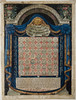 Calendar for counting the 'omer (Germany, 18th century), 67.1.06.16