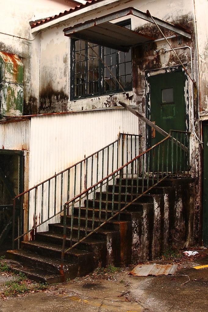 Stairs Door And Window Abandoned Charleston Navy Yard