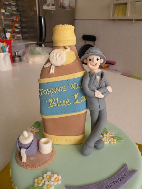 Johnnie Walker Cake Topper