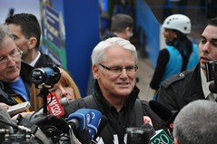 Premier Gordon Campbell Tries the Zipline | by Vancouver Access 2010