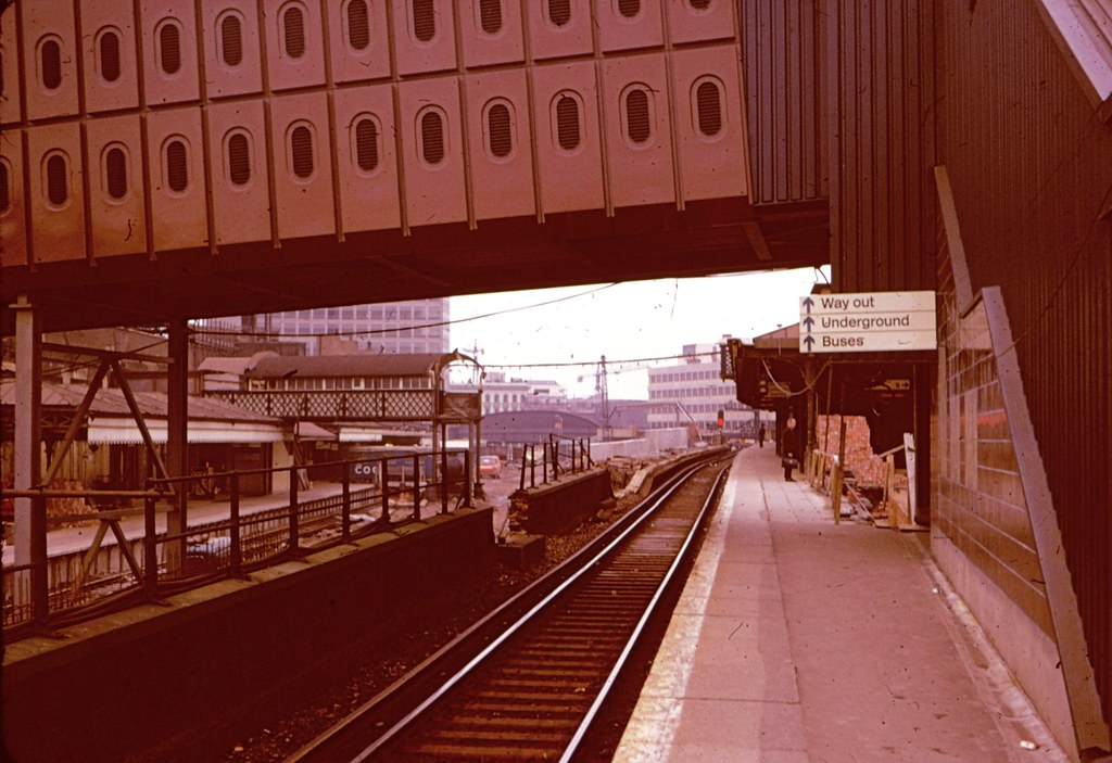 London Bridge Station Remodelling In 1975 The New