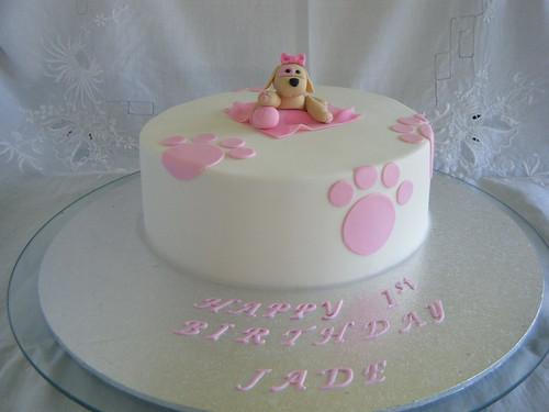 Puppy Themed 1st Birthday Cake Puppy Themed 1st Birthday