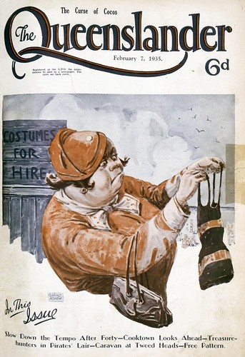 Illustrated front cover from The Queenslander February 7, 1935 | by State Library of Queensland, Australia