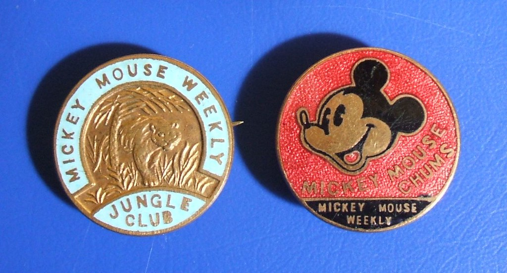 Mickey Mouse Weekly Children S Club Badges Mickey Mouse