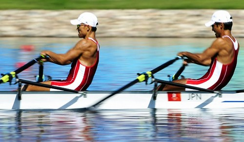 Rowing in the semifinals 2008 Beijing Olympic Games
