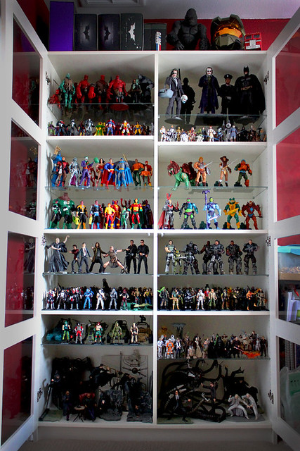 My Action Figure Collection Click On Each Shelf To Zoom