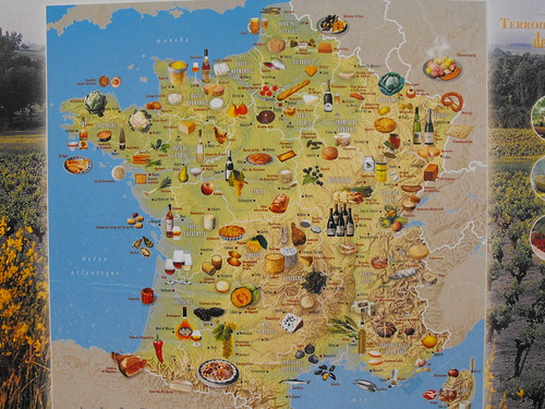 mapa de quesos y vino de francia