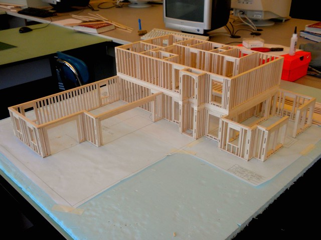 Balsa Wood Model House I Got The 2nd Floor Exterior And In Flickr