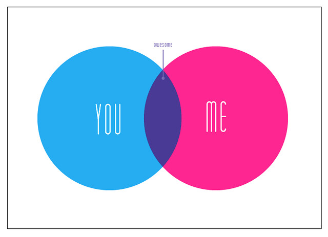 venn diagram  you and me