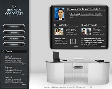 3d office business website design 3d business website desi flickr 3d office business website design by flash template design maxwellsz