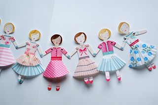 paper doll garland | by drawnbyrebeccajones