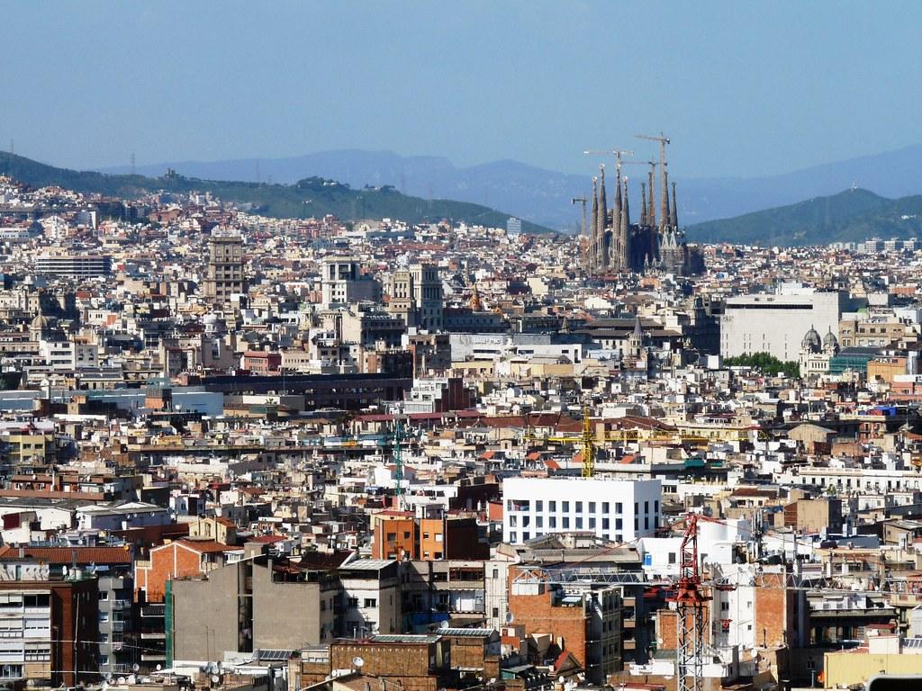 Barcelone vue depuis la piscine olympique marie flickr for Piscine olympique