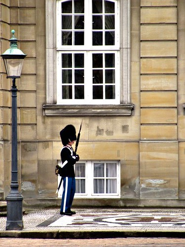 On Guard at Amalienborg Palace