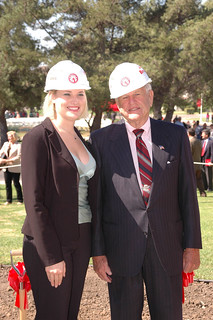 Student Body President, Anneka Busse with John Broome at Groundbreaking | by California State University Channel Islands