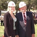 Student Body President, Anneka Busse with John Broome at Groundbreaking