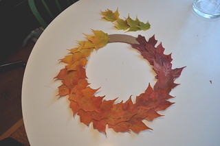 Leaf Wreath - Almost all glued | by LetterB
