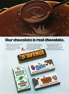 Luden's trade ad - Super Nut, Rinkles, Mello Mint 5th Avenue - 1977 | by JasonLiebig