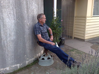 Michael relaxing by the house | by Daniel Bowen