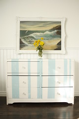 Striped Dresser | by It's Great To Be Home