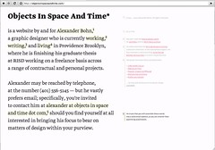 objectsinspaceandtime_com | by Typotheque