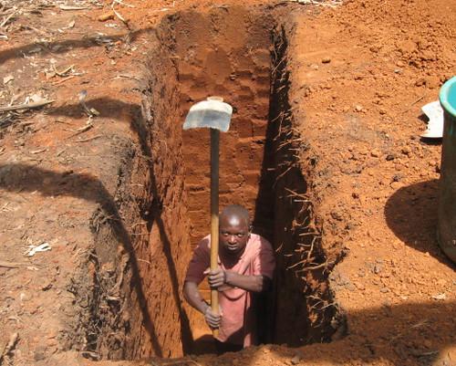 Pit Toilets Construction : Pit latrine construction mutungi asaph digging