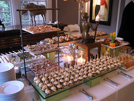 Contemporary Buffet Set Up Heavy Hors D Oeuvres Endive