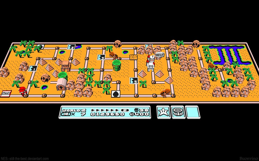 Super Mario Bros 3 Mapa Super Mario Bros 3 World 2