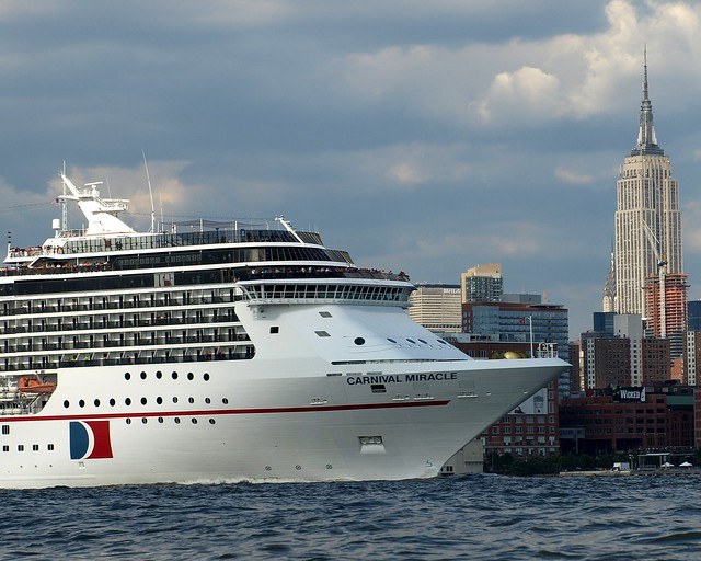 CARNIVAL MIRACLE Cruise Ship Hudson River New York City