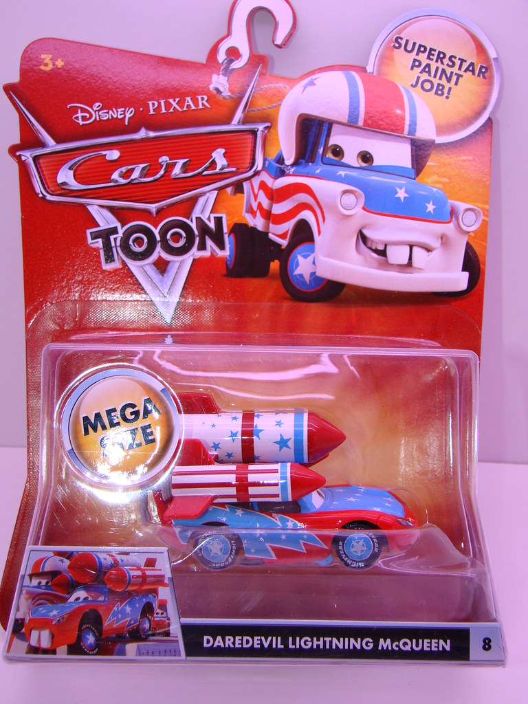 Disney Cars Toons Daredevil Lightning Mcqueen 1