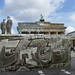 "Berlin Wall (""PEACE"" Graffiti) and Brandenburg Gate 1989 - Looking Into The Past"