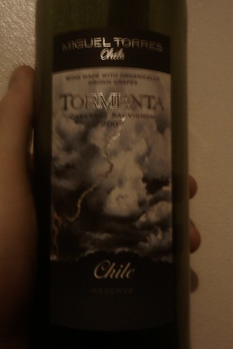 "Miguel Torres ""Tormenta"" Cabernet Sauvignon 2007 (Chile) 