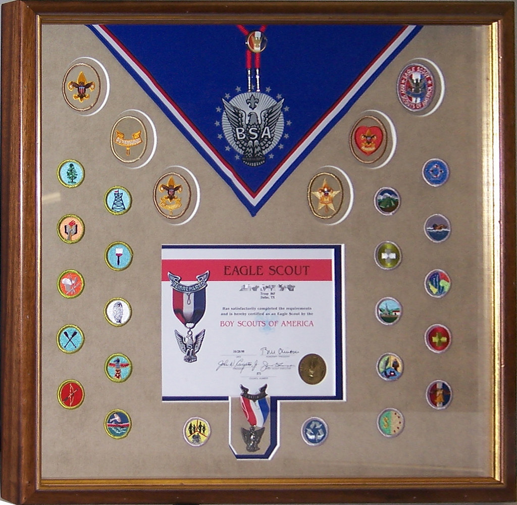 Bsa Eagle Scout Certificate And Merit Badges Framin Gallery Flickr