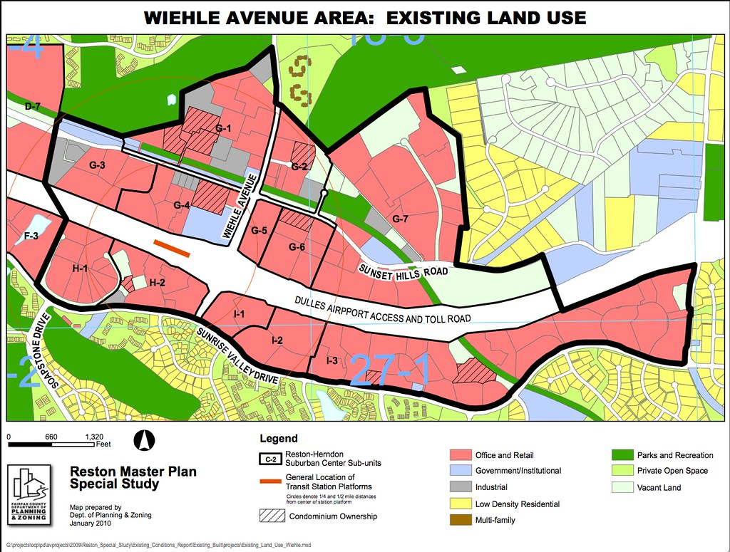 Wiehle Avenue Area Existing Land Use Map Reston Master Flickr