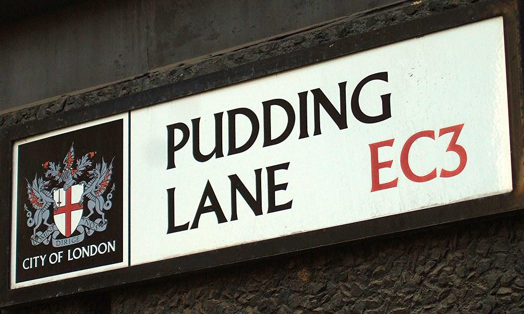 Image result for pudding lane street sign