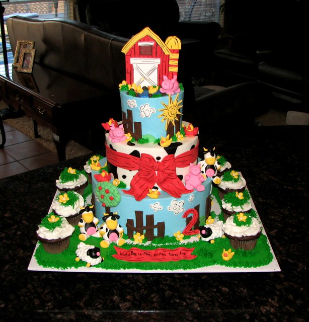 Kristen S Farm Cake I Made This Cake For My Cousin S