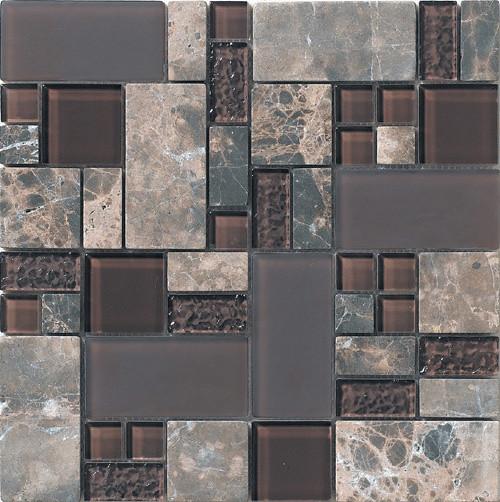 Glass Mix Stone Mosaic Tile Stx9802 Chip Size 23 23 23