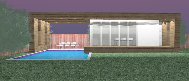Contemporary modern pool house addition 3 customgadz for Pool house additions