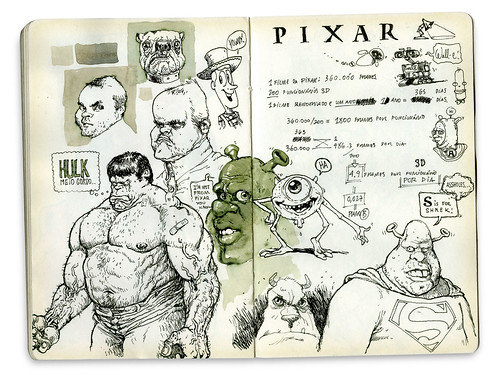 Hulk, Shrek e Mike Wazowski | by elbragon