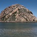 Morro Rock, as seen from the northernmost breakwater on the Morro Bay, CA Sand Spit