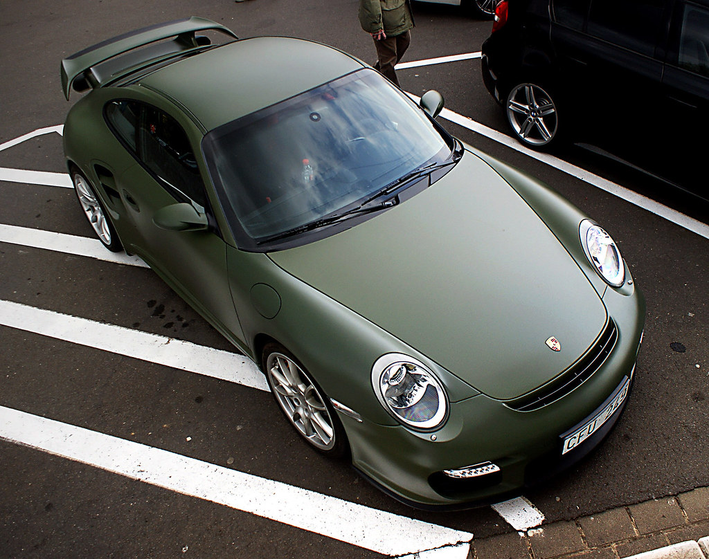 porsche gt2 never saw a matte green porsche i like it. Black Bedroom Furniture Sets. Home Design Ideas
