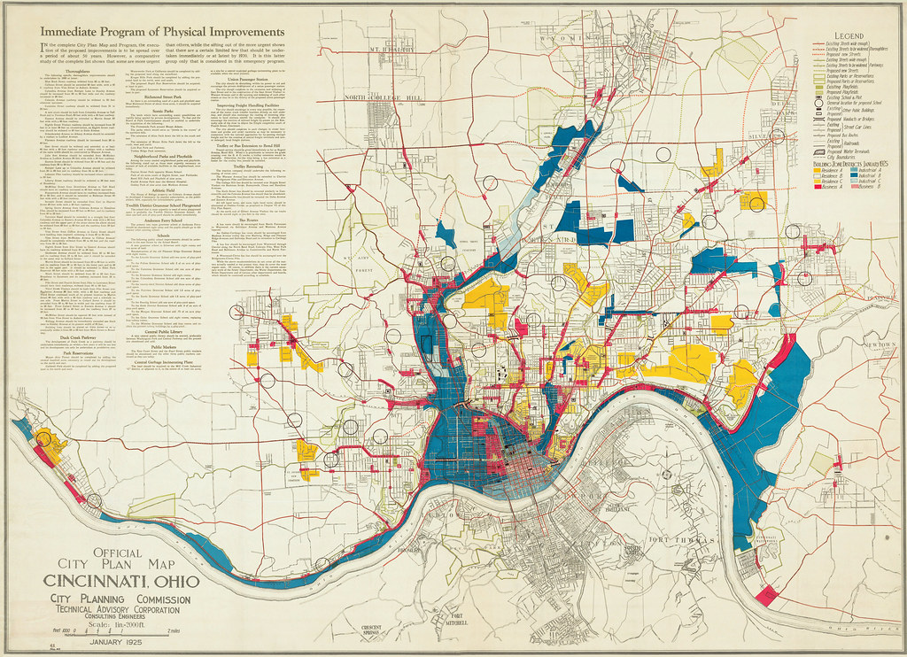 Official City Plan Map Cincinnati 1925 This is the Offic Flickr