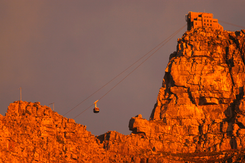 Cable Car going up Table Mountain | by City Sightseeing Cape Town