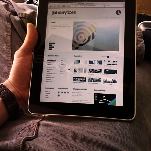 Johnnydoes website on iPad | by Johnny does