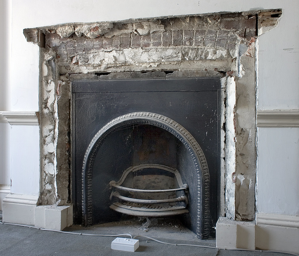 Fireplace / Exposed Brick Arch - Brian Eno Speaker Flowers ...