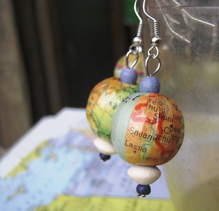 Asia Map Earring | by Accents & Petals