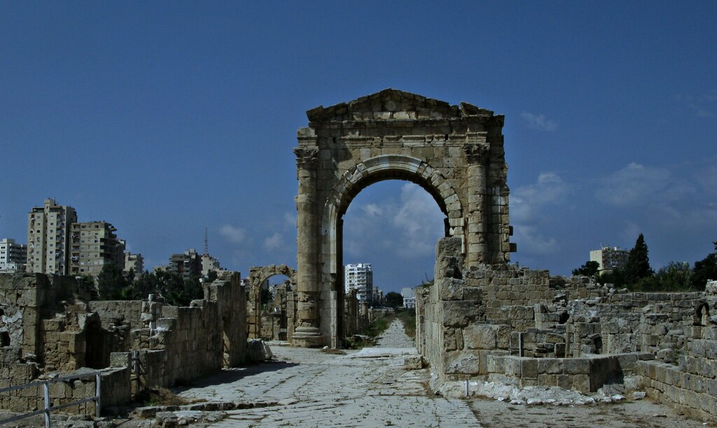 Monumental Arch Ancient City Tyre Lebanon