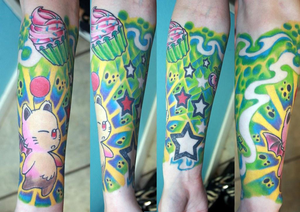 Full Color Sleeve Tattoo: The Beginning Of Full Sleeve